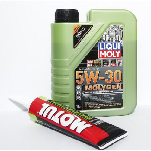 Nhớt liqui moly 5w30 molygen và tuýp láp motul 120ml