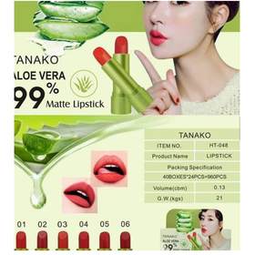 Son sáp lì Aloe Vera 99 dưỡng môi có màu TANAKO - son Tanako