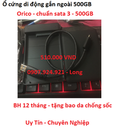 Ổ Cứng Di Động 500GB Bảo Hành 12 Tháng Tặng Bao Da Chống Sốc