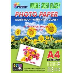 Giấy in ảnh A4- 2 mặt bóng - 160gsm