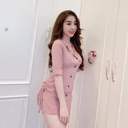Đầm nữ xinh kiểu sơ mi