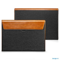 Túi chống sốc Macbook Pro 13''-15'' Touch Bar Late 2016-2019 TOMTOC Premium Leather