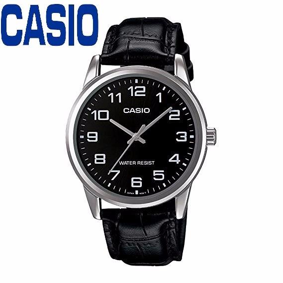 Đồng hồ nam CASIO MTP-V001L-1BUDF kính khoáng dây da đen - MTP-V001L-1BUDF