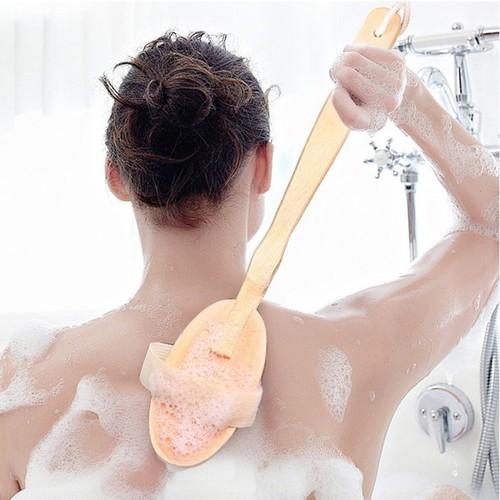 Cây tắm massage cán dài
