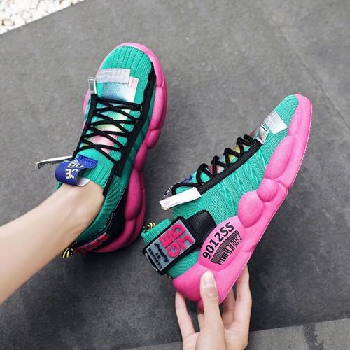 giày batta đế độn phối màu cực chất