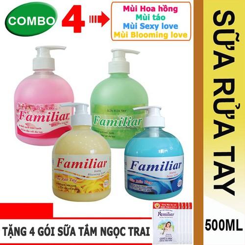 Combo 4 chai nước rửa tay Familiar 500ml đủ mùi hương - 12925641 , 20904460 , 15_20904460 , 158000 , Combo-4-chai-nuoc-rua-tay-Familiar-500ml-du-mui-huong-15_20904460 , sendo.vn , Combo 4 chai nước rửa tay Familiar 500ml đủ mùi hương