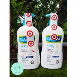 Sữa tắm gội Cetaphil Organic dạng vòi chuẩn Mỹ