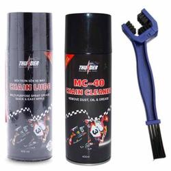 combo bộ sản phẩm vệ sinh sên MC -40 400ml- bôi trơn dưỡng sên thunder 400ml và bàn chải sên