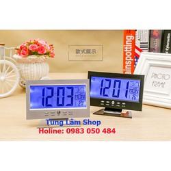 Đồng hồ đê bàn - nhiệt kế điện tử phòng
