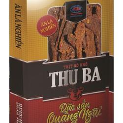 Khô Bò Thu Ba 500g dạng miếng, bổ sung năng lượng, uống bia