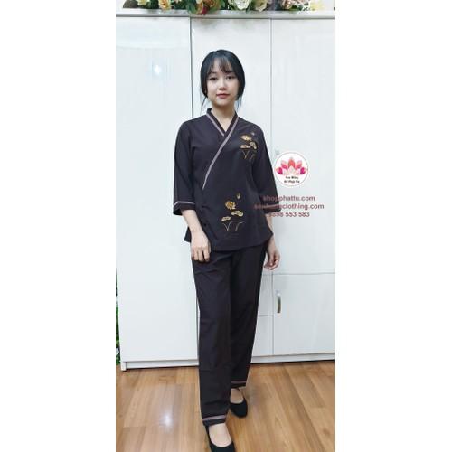 Bộ quần áo đi lễ chùa chéo mới màu nâu - 12930272 , 20909902 , 15_20909902 , 220000 , Bo-quan-ao-di-le-chua-cheo-moi-mau-nau-15_20909902 , sendo.vn , Bộ quần áo đi lễ chùa chéo mới màu nâu