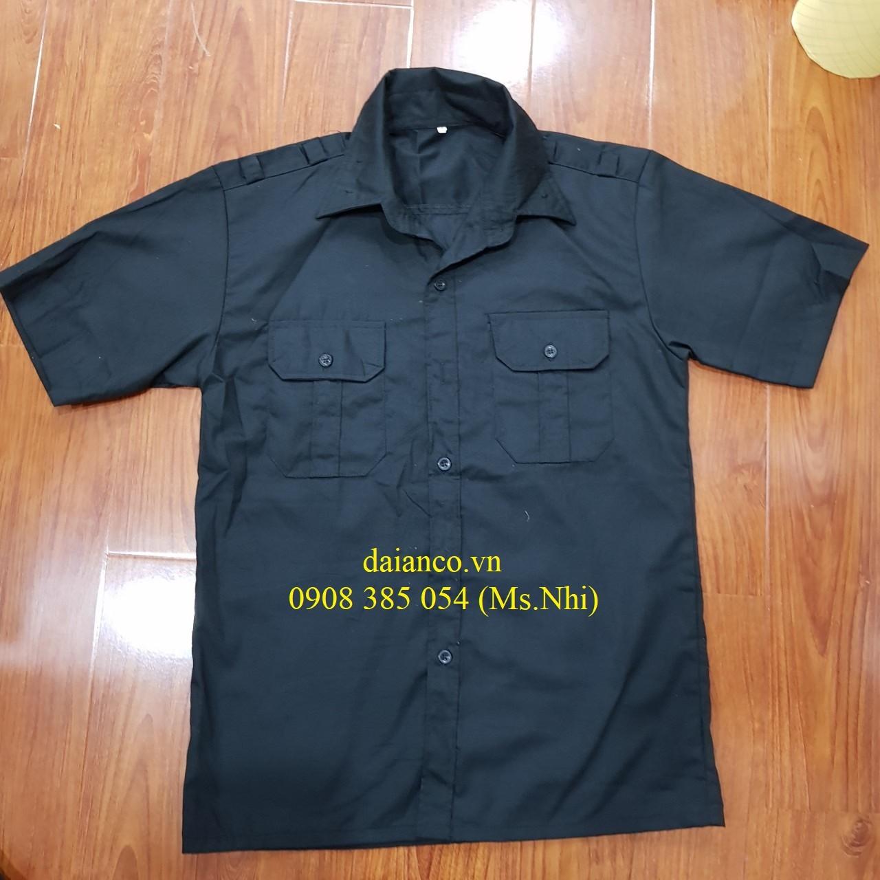 Hình ảnh Giảm giá đồng phục vệ sỹ- bảo vệ màu đen, vải thoáng mát, kiểu dáng sang trọng- Hình thật, có sẵn