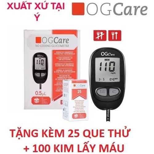 Máy đo đường huyết OGcare tặng 25 que thử - 12922744 , 20900005 , 15_20900005 , 449000 , May-do-duong-huyet-OGcare-tang-25-que-thu-15_20900005 , sendo.vn , Máy đo đường huyết OGcare tặng 25 que thử