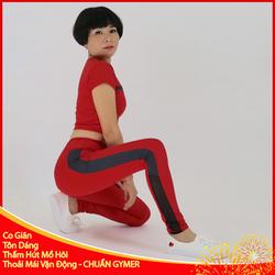 Set Đồ Tập Gym Nữ Màu Đỏ Phối Đen Chất Liệu Cao Cấp