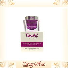 Kem Tasaki dưỡng trắng da cao cấp Linh chi, Đông trùng hạ thảo, DNA - 25g - hồng  - kem-tasaki-hong-0