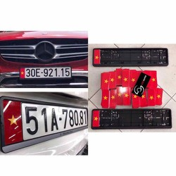 Khung biển số xe ô tô cờ Việt Nam