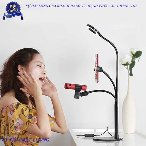 [Siêu rẻ] bộ giá đỡ livestream có đèn led siêu đẹp 3in1 cao cấp
