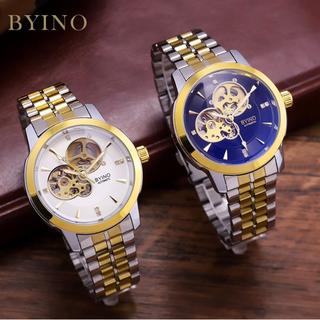 [Siêu Sale] Đồng hồ nam BYINO 8082 automatic mặt kính tráng sapphire, dây đúc đặc cao cấp, máy lộ cơ tinh xảo, tặng vòng đá thạch anh [ĐƯỢC KIỂM HÀNG] - 20945320 thumbnail