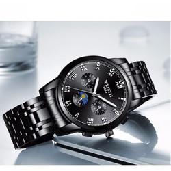 Đồng hồ nam WLISTH máy nhật w888 dây thép không gỉ cao cấp, tặng hộp, bảo hành 1 năm