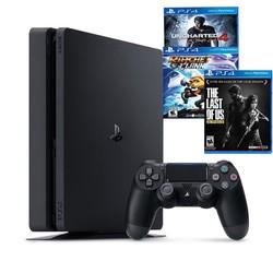 Máy Chơi Game Ps4 Slim 1tb Model2218b Kèm 3 Game Uncharted 4 ,The Last Of Us ,Ratchet  Clank - Chính Hãng Sony Việt Nam