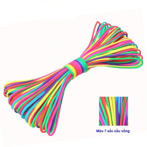 Dây dù làm vòng tay sinh tồn 7 lõi paracord màu bẩy sắc cầu vồng - 12948621 , 20935099 , 15_20935099 , 99000 , Day-du-lam-vong-tay-sinh-ton-7-loi-paracord-mau-bay-sac-cau-vong-15_20935099 , sendo.vn , Dây dù làm vòng tay sinh tồn 7 lõi paracord màu bẩy sắc cầu vồng