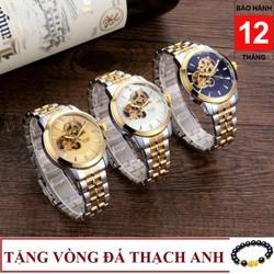 Đồng hồ nam cơ BYINO 8082 automatic mặt kính tráng sapphire, dây đúc đặc cao cấp, máy lộ cơ