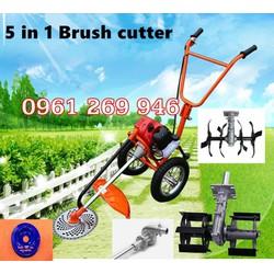 Máy cắt cỏ đẩy tay đa năng Okasu GX35 có thêm sạc cỏ, xới đất làm vườn