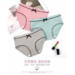 Set 10 quần lót gân tăm đính nơ siêu yêu
