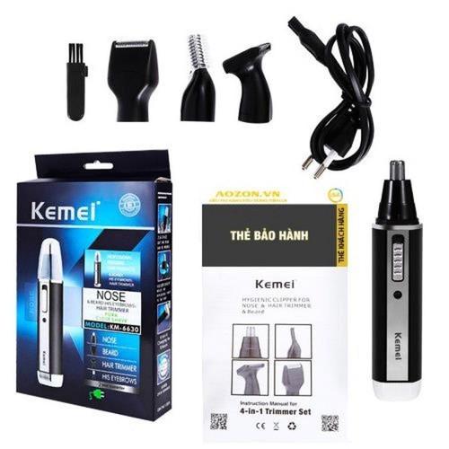 Tông đơ kiêm máy cạo râu đa năng 4 trong 1 Kemei KM-6630