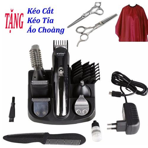 Tông đơ cắt tóc đa năng - Tặng 2 kéo cắt, tỉa tóc cao cấp+ áo choàng cắt tóc