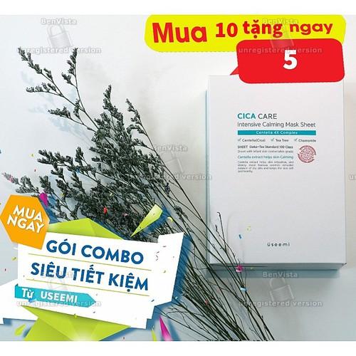 Mặt nạ dưỡng ẩm toàn diện Useemi CiCa Care Intensive Calming Mask- Combo 10 tặng 5