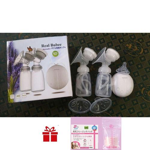 máy hút sữa - máy vắt sữa Real Bubee Japan - Tặng 20 túi đựng