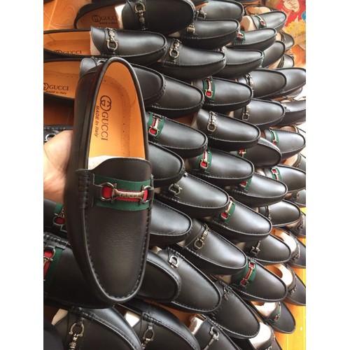 giày lười nam chất da bò thật bảo hành 2 năm
