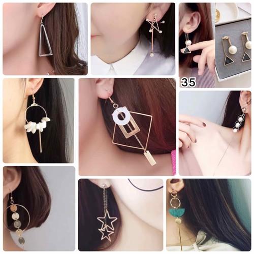 Bông tai trang sức phong cách hàn quốc 168 mẫu - bảng 6