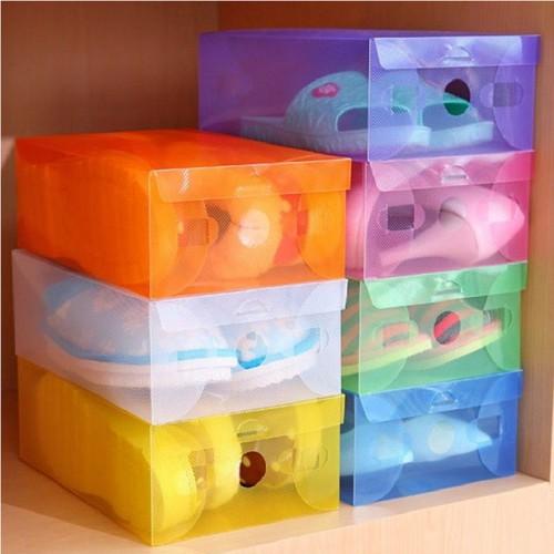[SỈ GIÁ RẺ] Sỉ 40 hộp đựng giày bằng nhựa nhiều màu