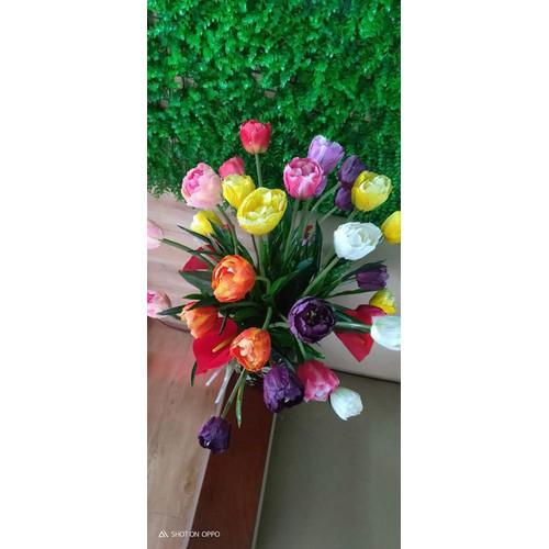 hoa tuylip vải cao cấp