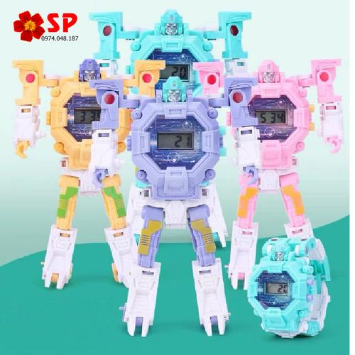 Đồng hồ trẻ em - đồng hồ bé trai bé gái - đồng hồ biến hình robot siêu nhân cực hot - có sỉ sll - 5552 nhiều màu
