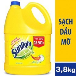 Nước rửa chén Sunlight Chanh 100 Can 3,8kg