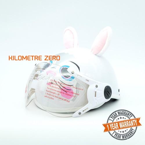 Mũ bảo hiểm trẻ em proma tl77 con thỏ có kính