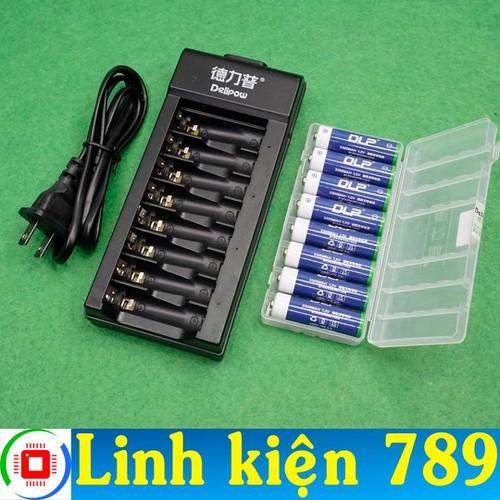Bộ pin sạc AA 8 pin - Linh Kiện 789