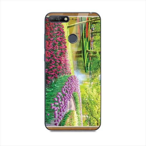 Ốp điện thoại kính cường lực cho máy Huawei Y6 Prime - Vườn Hoa MS VHOA058