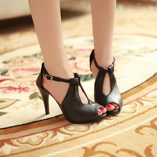Giày cao gót tết sam cao cấp kt