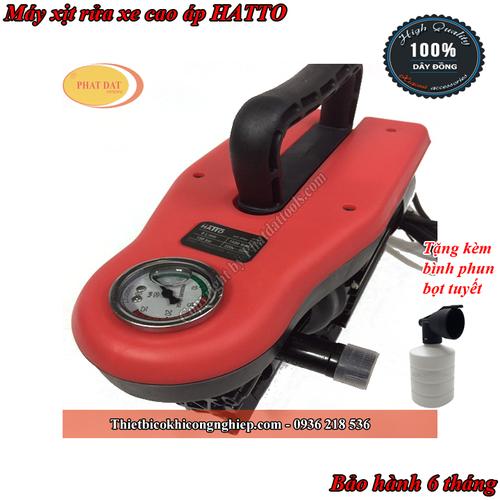Máy xịt rửa xe cao áp HATTO-Chính hãng-Bảo hành 6 tháng-Tặng kèm bình phun bọt tuyết tiện dụng