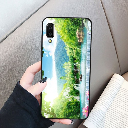 Ốp điện thoại kính cường lực cho máy Samsung Galaxy A50 - sơn thủy MS SONTHUY017