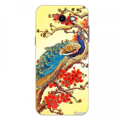 Ốp điện thoại kính cường lực cho máy Samsung Galaxy J3 Prime - chim công phượng MS CPHUONG060