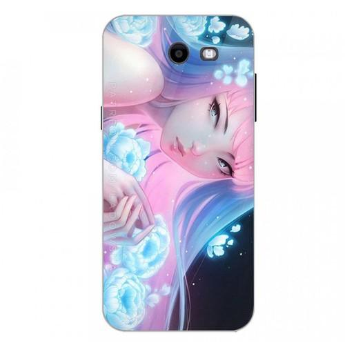 Ốp điện thoại kính cường lực cho máy Samsung Galaxy J3 Prime - cô gái cá tính MS CGCT002