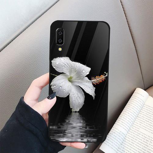 Ốp điện thoại kính cường lực cho máy Samsung Galaxy A70 - Đủ nắng thì hoa nở MS DNTHN017