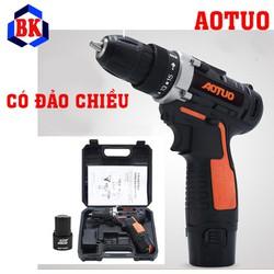 Máy khoan bắt vít dùng pin Aotuo - Máy khoan Autuo - Máy khoan pin 12v