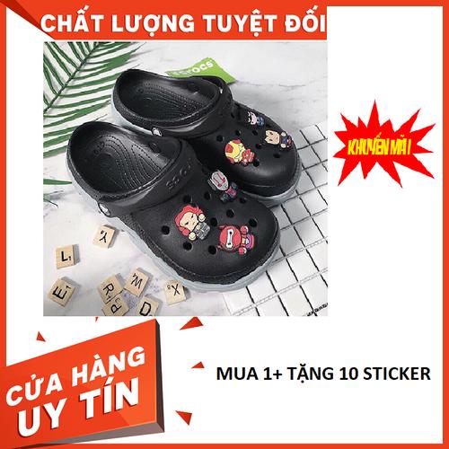 Siêu sale- dép sục đen thời trang siêu hot+ tặng 10 sticker