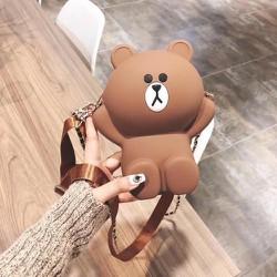 Túi Đeo Hình Gấu Brown Silicon